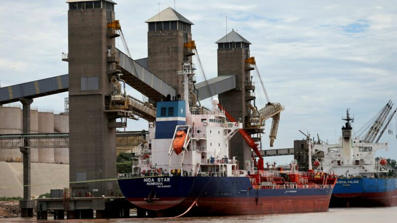 Historic low river levels force Argentine grains ships to cut cargoes by 25%, ports chamber says