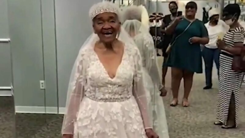 94-Year-old Grandmother Wears Dream Wedding Dress, 70 Years After Being Denied Entry to Bridal Shop