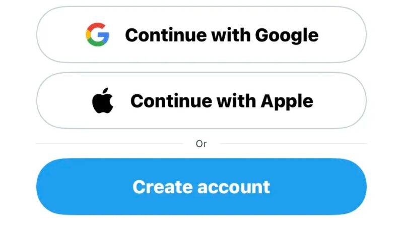 Twitter adds third-party signup with Apple or Google
